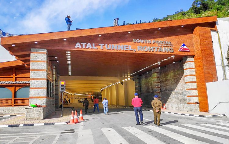 Atal tunnel in Manali